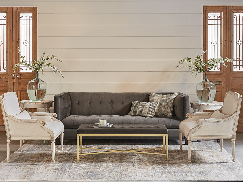 Featured Photo of Magnolia Home Dapper Fog Sofa Chairs