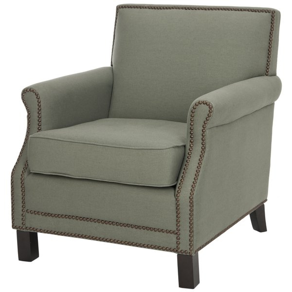 Most Recently Released Mansfield Beige Linen Sofa Chairs Within Shop Safavieh Mansfield Grey Club Chair – Free Shipping Today (View 15 of 20)