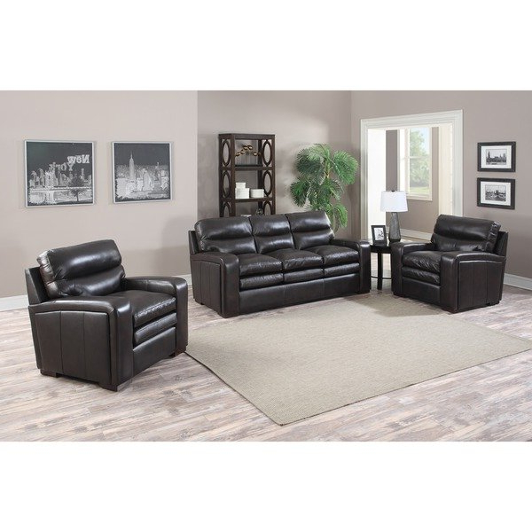 Most Recently Released Mercer Foam Oversized Sofa Chairs In Mercer Dark Brown Italian Leather Sofa And Two Leather Chairs – Free (View 12 of 20)