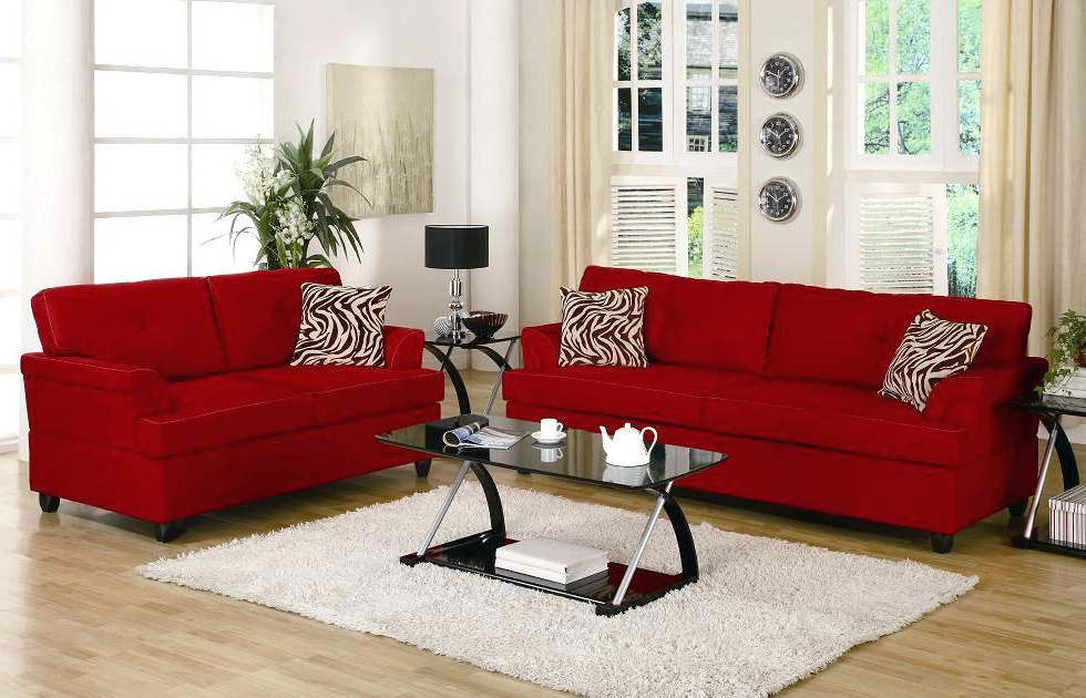 Featured Photo of Red Sofas And Chairs
