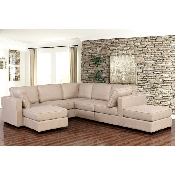 Most Recently Released Shop Abbyson Harper Fabric Modular 7 Piece Sectional – Free Shipping Within Harper Down Oversized Sofa Chairs (View 7 of 20)