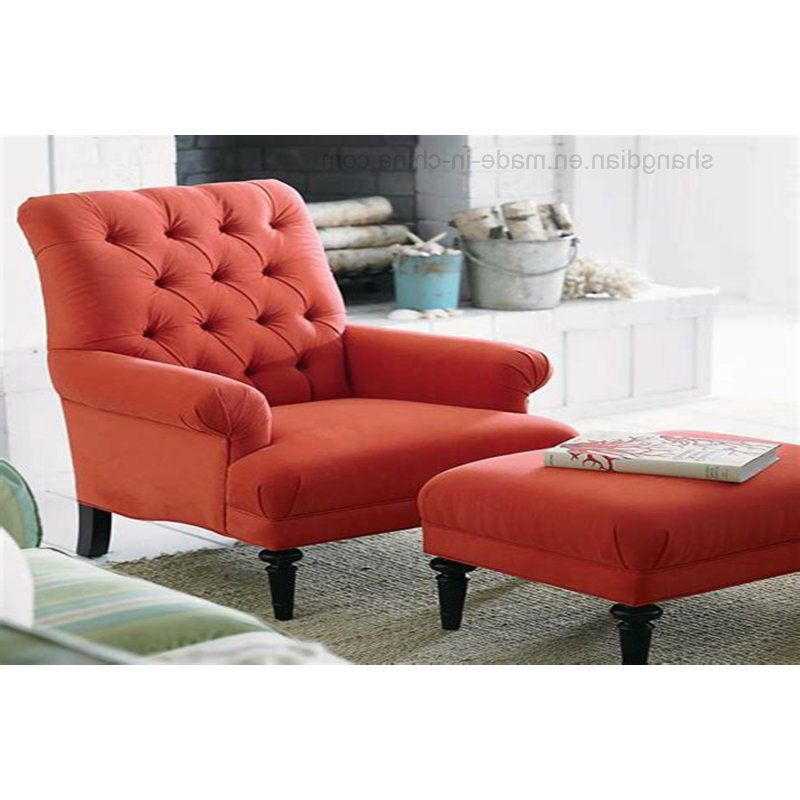 Most Recently Released Sofa Chair With Ottoman Within China Luxury Hotel Living Room Sofa Single Sofa Chair With Ottoman (View 13 of 20)