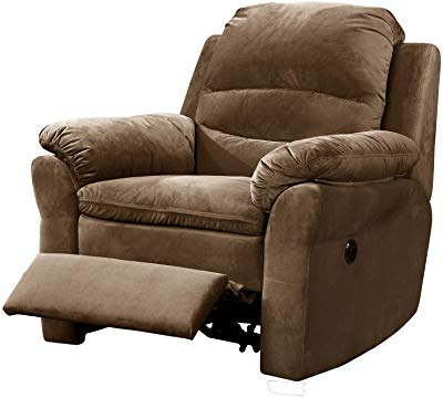 Most Up To Date Amazon: Ashley Furniture Signature Design – Barling Luxury Faux With Regard To Gannon Truffle Power Swivel Recliners (View 14 of 20)