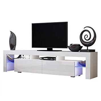 Most Up To Date Amazon: Concept Muebles Tv Stand Milano 200 / Modern Led Tv With Regard To 24 Inch Led Tv Stands (View 12 of 20)