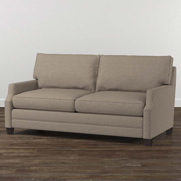 Most Up To Date Fabric Sofas And Couchesbassett Home Furnishings With Regard To Loft Arm Sofa Chairs (View 13 of 20)