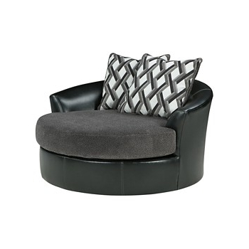 Most Up To Date Harbor Grey Swivel Accent Chairs Intended For Kumasi – Smoke – Oversized Swivel Accent Chair (View 17 of 20)