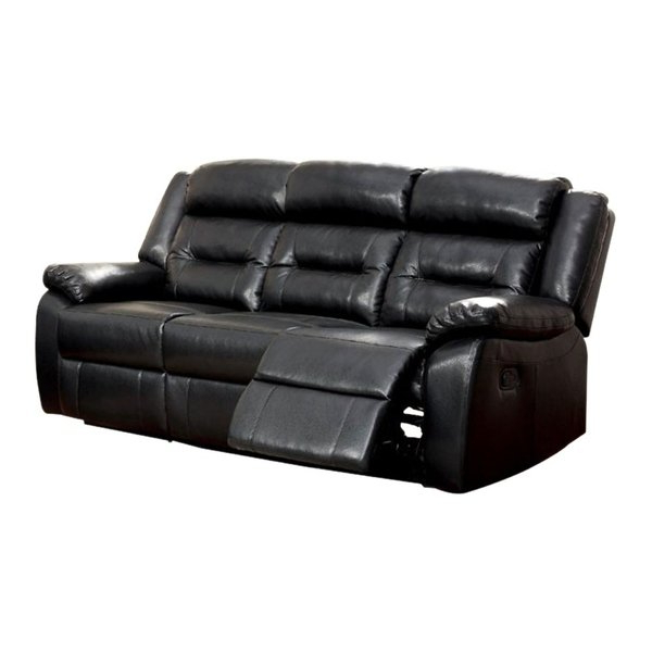 Most Up To Date Shop Sheldon Motion Sofa With Black Bonded Leather Match – Free With Regard To Sheldon Oversized Sofa Chairs (View 9 of 18)