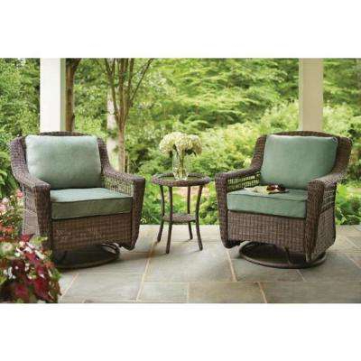 Most Up To Date Spring Haven Grey – Wicker Patio Furniture – Hampton Bay – Patio Pertaining To Haven Sofa Chairs (View 14 of 20)