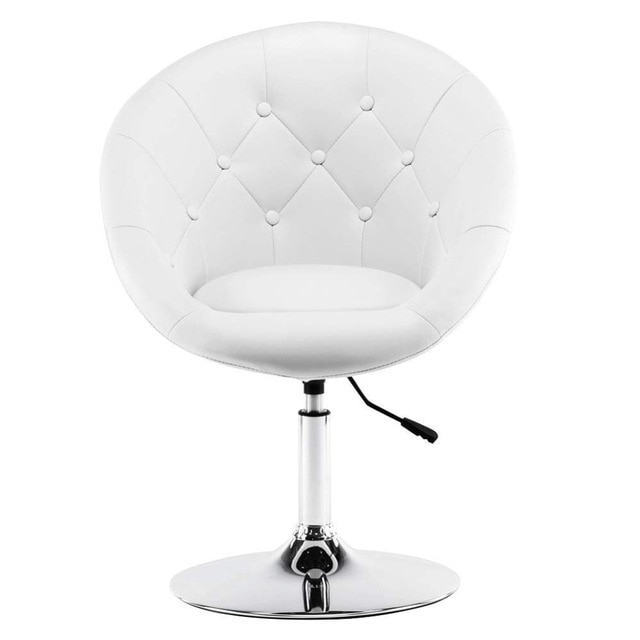 Most Up To Date Umber Grey Swivel Accent Chairs Within Wahson Tufted Round Back Swivel Accent Chair Contemporary Adjustable (View 10 of 20)