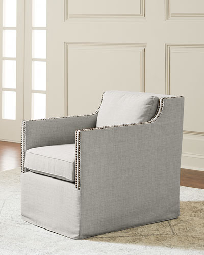 Neiman Marcus With Twirl Swivel Accent Chairs (View 2 of 20)