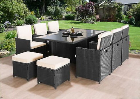 Newest 10 Seat Cube Rattan Garden Furniture Set Chairs Sofa Table Outdoor For Sofa Table Chairs (Gallery 7 of 20)