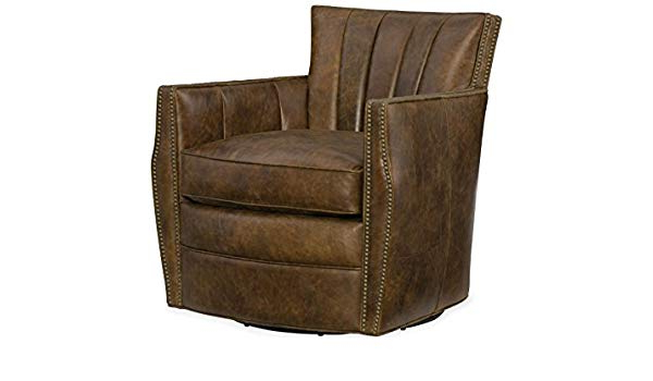 Newest Amazon: Hooker Furniture Carson Leather Swivel Club Chair In With Swivel Tobacco Leather Chairs (View 8 of 20)