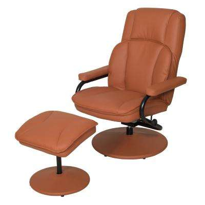 Newest Chocolate Brown Leather Tufted Swivel Chairs Within With Ottoman – Accent Chairs – Chairs – The Home Depot (View 11 of 20)