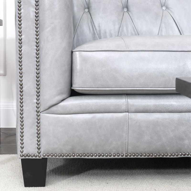 Newest Dove Grey Leather Sofa – Hotelessemanasanta Throughout Caressa Leather Dove Grey Sofa Chairs (Gallery 7 of 20)