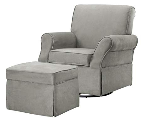 Newest Grey Swivel Chairs Regarding Amazon: Baby Relax The Kelcie Nursery Swivel Glider Chair And (View 14 of 20)