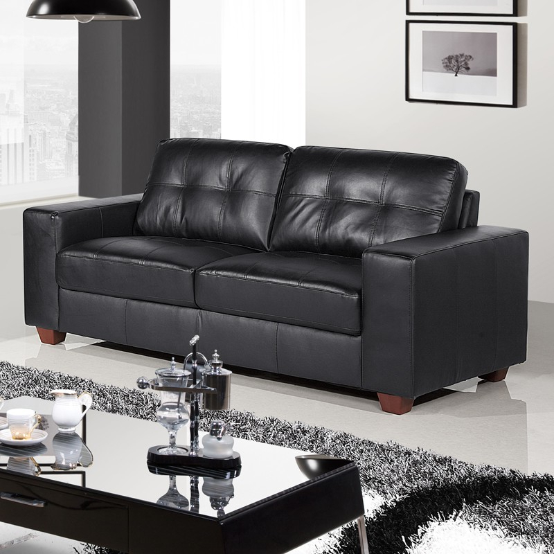 Newest Pictures Of Black Leather Sofas – Interior Design Photos Gallery • In Grandin Leather Sofa Chairs (Gallery 18 of 20)