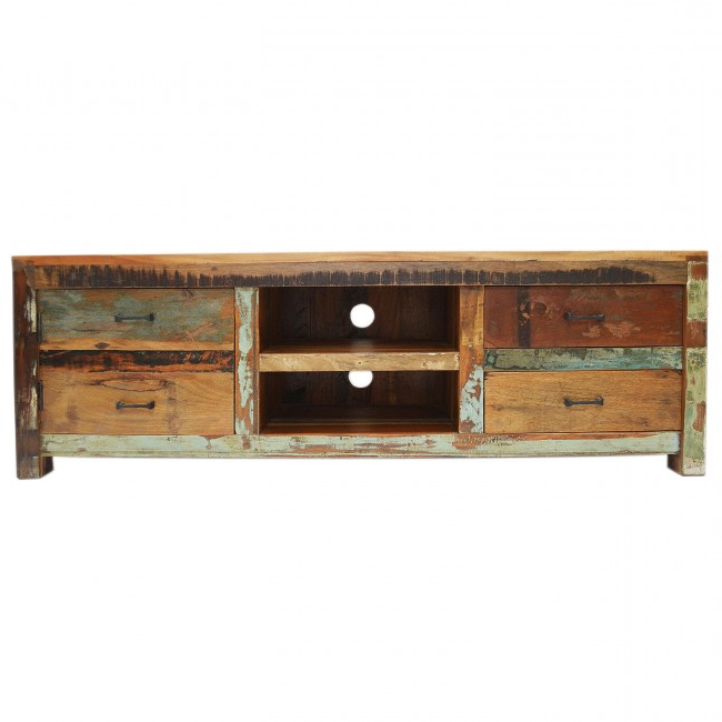 Nirvana Reclaimed Timber Furniture Item Tv Unit With Regard To 2017 150Cm Tv Units (View 13 of 20)