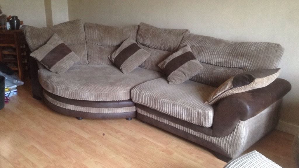Open To Offers Corner Cuddle Sofa, Large Swivel Chair & Footstool With Most Popular Sofa With Swivel Chair (View 9 of 20)