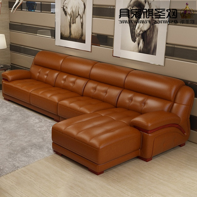 Orange Leather Sectional Sofa, Sofa Chair Leather,sofa Set Dubai In Well Known Sofa And Chair Set (Gallery 2 of 20)