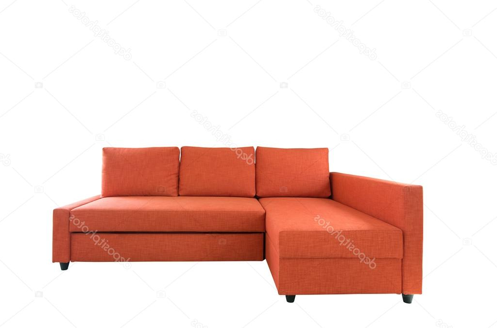 Orange Sofa Chairs Intended For Most Current Orange Sofa Furniture Isolated On White Background With Clipping (View 10 of 20)