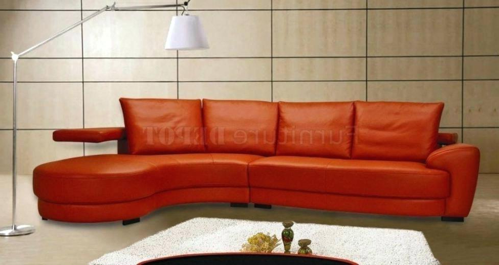 Orange Sofa Chairs Within Latest Burnt Orange Leather Sofas Burnt Orange Leather Sofa With Burnt (Gallery 19 of 20)