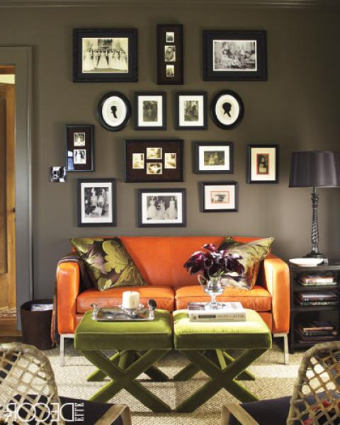Orange Sofa – Contemporary – Living Room – Elle Decor For Well Liked Orange Sofa Chairs (View 8 of 20)