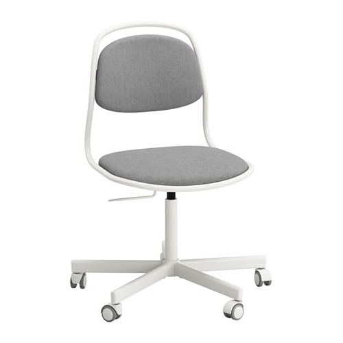 Örfjäll / Sporren Swivel Chair – White/vissle Light Grey – Ikea Inside Trendy Grey Swivel Chairs (Gallery 16 of 20)