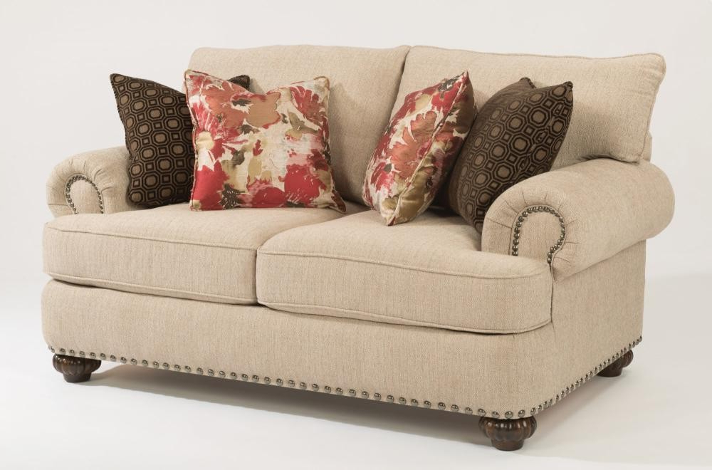 Patterson Fabric Loveseat With Nailhead Trim (View 9 of 20)