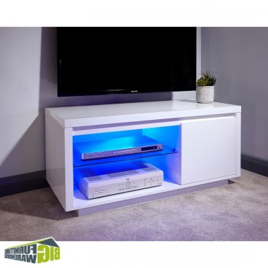 Polar Tv Unit White – G Poltvuwht Tv Unit Within Most Recent 100Cm Width Tv Units (View 16 of 20)