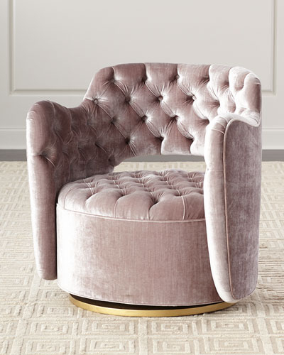 Polyester Swivel Accent Chair (View 11 of 20)