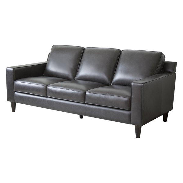 Popular Caressa Leather Dark Grey Sofa Chairs Within Dark Grey Leather Sofa (View 15 of 20)