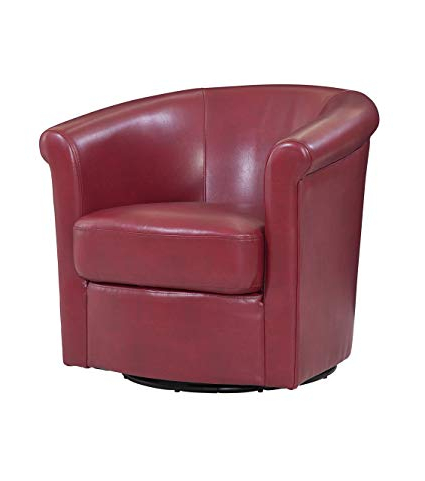 Popular Devon Ii Swivel Accent Chairs Inside Amazon: Grafton 1012 05 L01 Home Madison Faux Leather Swivel (View 8 of 20)