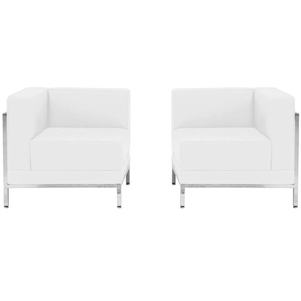 "Popular Gwen Sofa Chairs Throughout Shop Chancellor ""gwen"" White Leather Corner Chair Set 10, 2pcs (View 8 of 20)"
