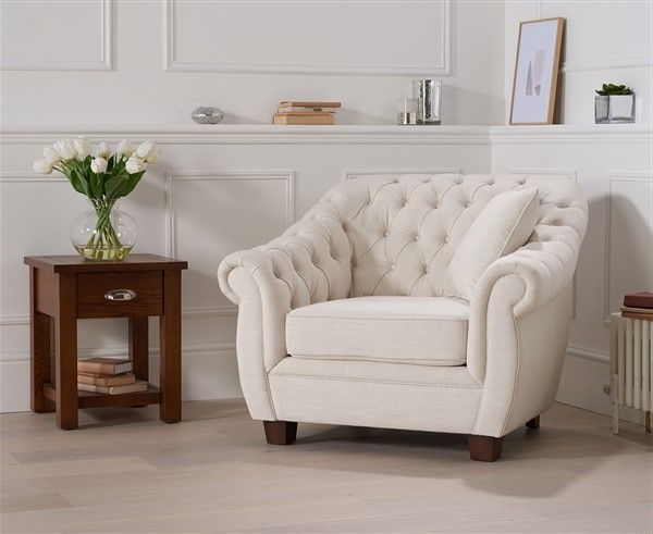 Popular Liv Arm Sofa Chairs Within Liv Ivory Linen Arm Chair (View 15 of 20)