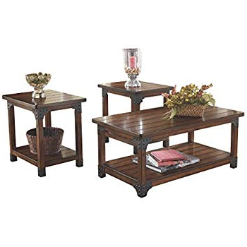 Popular Sofa Table Chairs Intended For Amazon: Ashley Furniture Signature Design – Murphy 3 Piece (View 16 of 20)