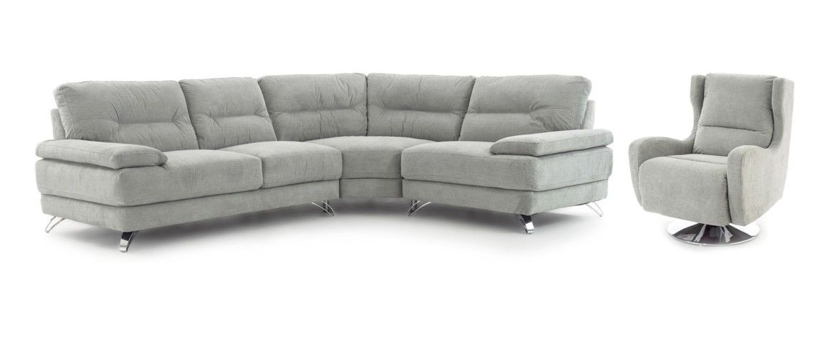 Popular Sofa With Swivel Chair For Eros Corner Group & Swivel Chair (View 10 of 20)