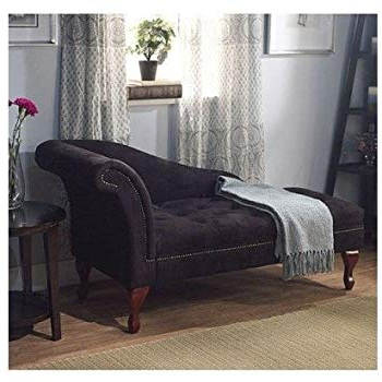 Preferred Amazon: Black Storage Chaise Lounge Sofa Chair Couch For Your With Chaise Sofa Chairs (View 15 of 20)