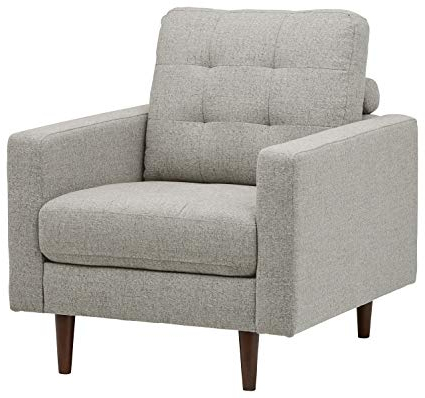 Preferred Amazon: Rivet Cove Mid Century Tufted Accent Chair, Light Grey With Revolve Swivel Accent Chairs (View 8 of 20)