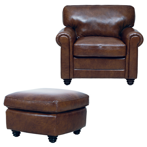 Preferred Andrew Chair/ottoman Bundle – Real Leather Furniture With Regard To Andrew Leather Sofa Chairs (View 13 of 20)