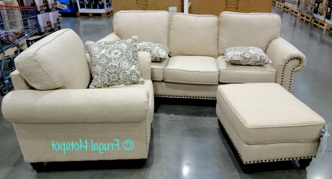 Preferred Costco: Synergy Home Fabric Sofa, Chair + Ottoman Set $ (View 3 of 20)