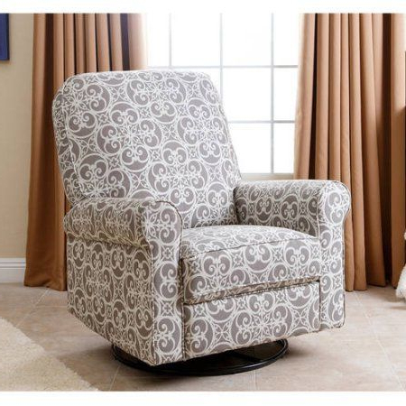 Preferred Devon Ii Swivel Accent Chairs Within Devon & Claire Perch Fabric Swivel Glider Recliner, Multiple Colors (View 20 of 20)