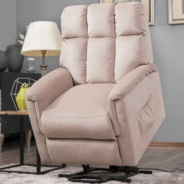 Preferred Harper Down Oversized Sofa Chairs Within Shop Harper & Bright Designs Power Lift Chair Soft Fabric Recliner (View 15 of 20)
