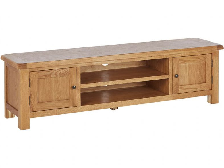 Preferred Winchester Oak 180Cm Low Line Tv Unit – Furniture Barn Inside 150Cm Tv Units (View 12 of 20)