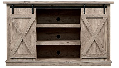 Recent Amazon: Comfort Smart Wrangler Sliding Barn Door Tv Stand Inside 24 Inch Corner Tv Stands (View 15 of 20)