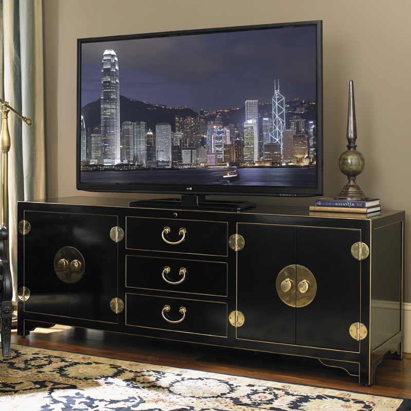 "Recent Asian Tv Cabinets Pertaining To Sligh 100Sb 660 Studio Designs Pacific Isle 75"" Asian Style Tv Stand (View 18 of 20)"