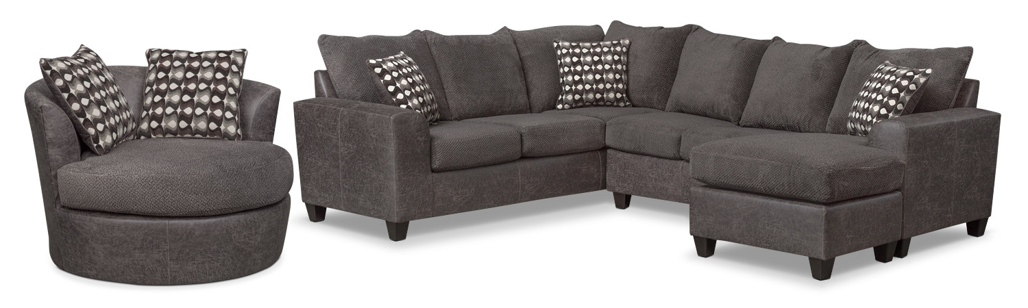 Recent Brando 3 Piece Sectional With Chaise And Swivel Chair Set (View 11 of 20)
