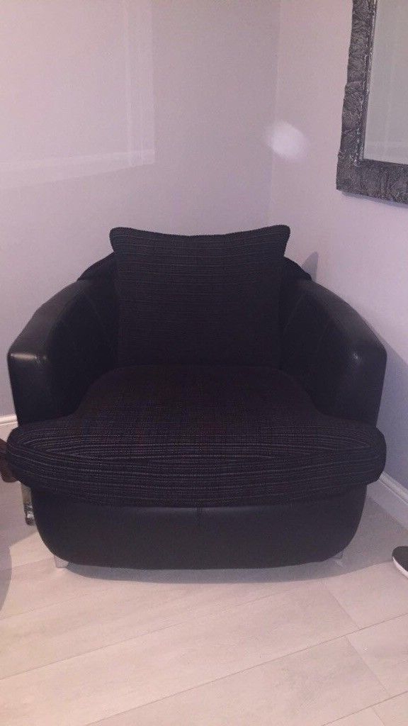 Recent Dfs Quantum Fabric & Leather Cuddle Sofa , Swivel Chair & Arm Chair Within Sofa With Swivel Chair (View 12 of 20)