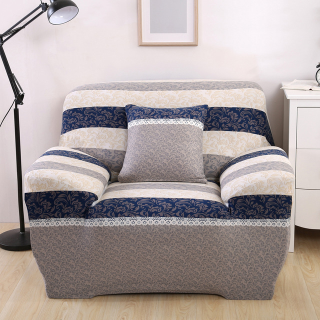 Recent Europe Flora Stretch Furniture Covers Blankets For Sofa Chair Regarding Sofa And Chair Slipcovers (View 3 of 20)