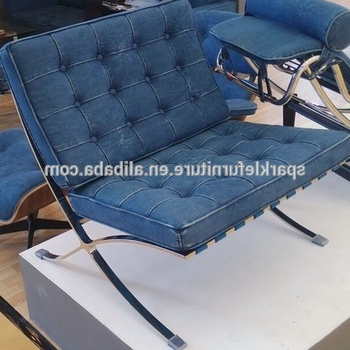 Recent Leather Barcelona Sofa Chair With Ottoman Living Room Furniture Intended For Sofa Chair With Ottoman (View 13 of 20)