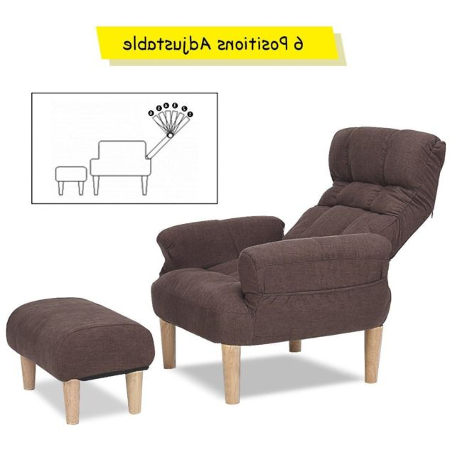 Recent Recliner Lounge Chair Lazy Sofa Chairs With Ottoman Seat Leisure With Sofa Chair With Ottoman (View 14 of 20)